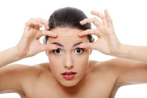 Forehead, eye wrinkles